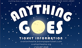 Promo graphic for Anything Goes