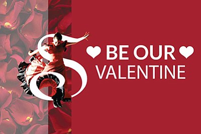 Promotional graphic for the Valentine's Day and Valentine...