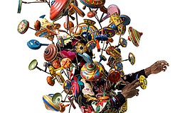 A photo of a Soundsuit by Nick Cave, courtesy of the arti...