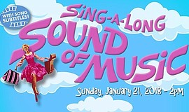 Promo graphic for Sing-A-Long 'Sound Of Music'