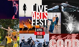Promo graphic for San Diego Dance Theater's Live Arts F...
