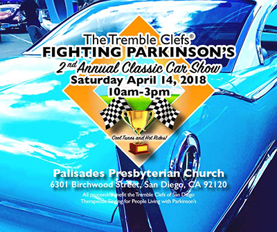 Tremble Clefs Fighting Parkinsons Second Annual Classic Car Show - San diego classic car show 2018