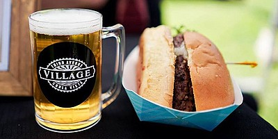 Promotional photo of food and beer. Courtesy of Third Ave...
