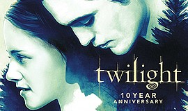 """A promotional poster for """"Twilight"""" 10th anniversary, cou..."""