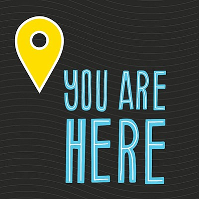 """Promotional graphic for """"You Are Here."""" Courtesy of the S..."""