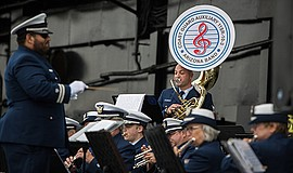 Promo graphic for U.S. Coast Guard Auxiliary Band Arizo...