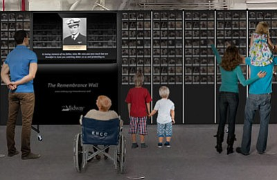 Promotional photo for the Remembrance Wall. Courtesy of U...