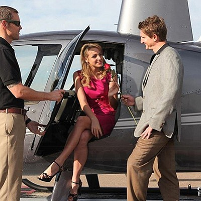 Promotional photo of couple. Courtesy of Corporate Helico...
