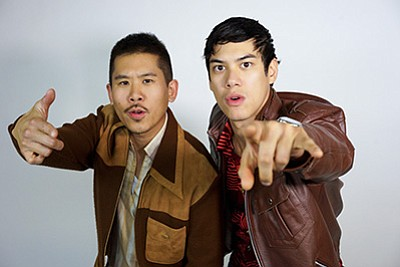 A photo of Lawrence Kao (left) and Ben Levin in San Diego...