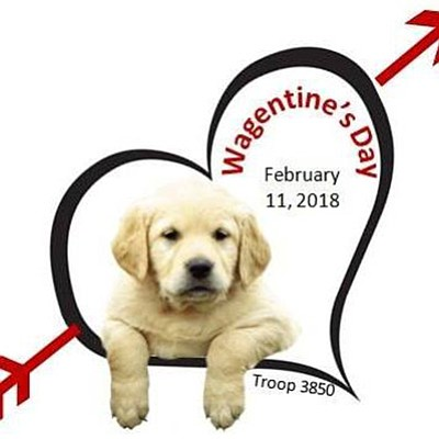 Promotional graphic for Wagentine's Day. Courtesy of Girl...