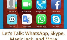 Promo graphic for Let's Talk: WhatsApp, Skype, Magic Ja...