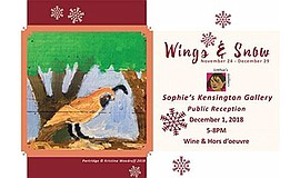 "Promotional graphic for ""Wings & Snow."" Courtesy of St. M..."