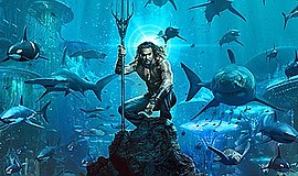 "Promotional graphic for ""Aquaman"". Courtesy of Warner Bro..."