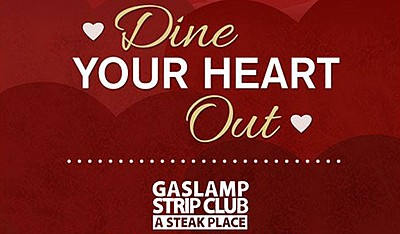 Promotional graphic for the Valentine's Day dinner. Court...