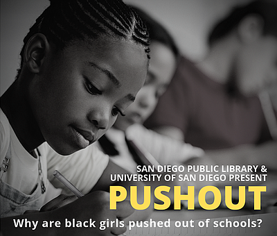 "Promotional graphic for the discussion about ""Pushout: Th..."