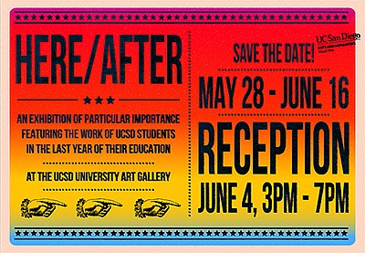 """Promotional graphic for """"HERE/AFTER."""" Courtesy of UC San ..."""