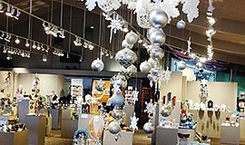 """Promotional photo for the """"Art of the Holiday Show,"""" on d..."""
