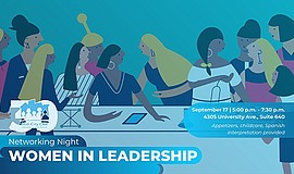Promo graphic for Networking Night: Women In Leadership