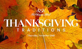 Promotional graphic for Thanksgiving at The Westgate Hote...