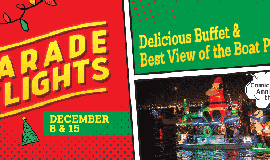 Promotional graphic for Parade Of Lights - Dinner & Viewi...