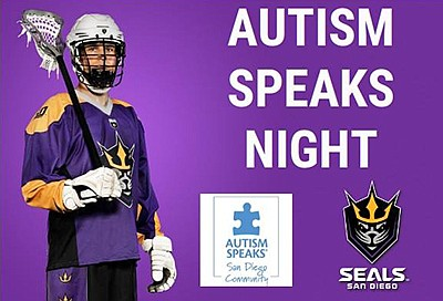 Promotional poster for the Seals vs. Knighthawks game. Co...