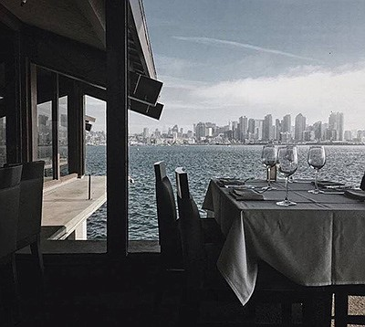 Photo of the view from the restaurant. Courtesy of Island...