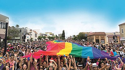 Promotional graphic for San Diego Pride Parade. Courtesy ...