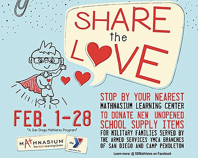 "Promotional graphic for the ""Share the Love"" school suppl..."