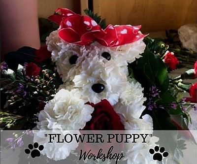 Promotional photo for the Flower Puppy Workshop. Courtesy...