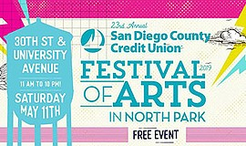 Promotional graphic for the Festival of Arts. Courtesy of...