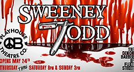 Promotional graphic for Sweeney Todd: The Demon Barber of...