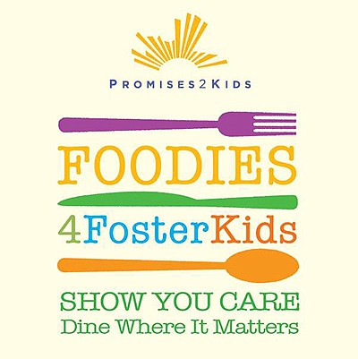Promotional graphic for Foodies 4 Foster Kids. Courtesy o...