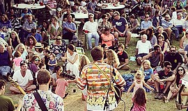 Photo from a previous outdoor concert. Courtesy of the Ca...