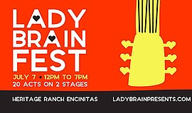Promotional graphic for Lady Brain Fest. Courtesy of Lady...