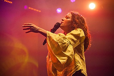 Promotional graphic for Natalia Lafourcade. Courtesy of C...