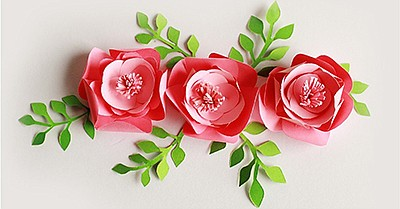 Promotional graphic for Craft & Sip: Paper Flowers. Court...