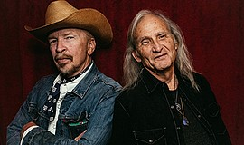 Promo graphic for Dave Alvin & Jimmie Dale Gilmore With...