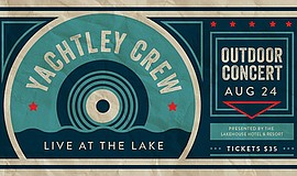 Promo graphic for Live At The Lake: Yachtely Crew