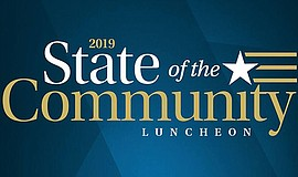 Promo graphic for State Of The Community Luncheon Carlsbad