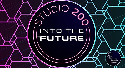 Promotional graphic for Studio 200: Into the Future. Cour...