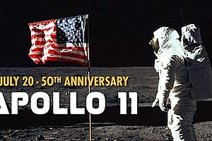Promotional graphic for The Day We Walked On The Moon. Courtesy of San Diego ...