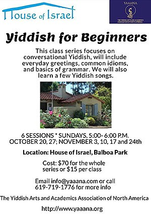 Promotional photo for Yiddish For Beginners courtesy of Y...