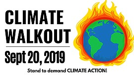 Promo graphic for Global Climate Walkout