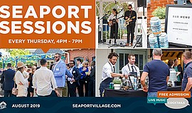 Promo graphic for Seaport Sessions | Maritime Museum