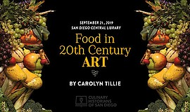 Promo graphic for Food In 20th Century Art