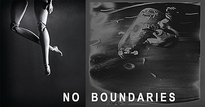 Promotional graphic for No Boundaries Exhibit. Courtesy o...