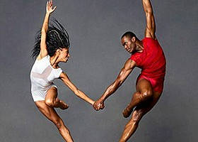 A photo from Alvin Ailey American Dance Theater, courtesy of La Jolla Music S...