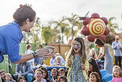 A hedgehog visits guests at the SD Childrens Discovery Mu...