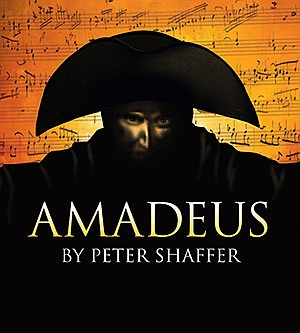 """Promotional graphic for the upcoming show """"Amadeus"""". Cour..."""