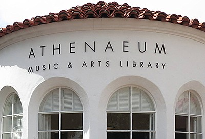 Exterior photo of the Athenaeum Music & Arts Library.